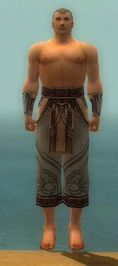 Monk Asuran Armor M gray arms legs front