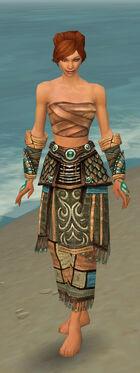 Monk Elite Luxon Armor F gray arms legs front