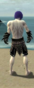 Necromancer Elite Luxon Armor M gray arms legs back