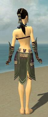 Ritualist Obsidian Armor F gray arms legs back