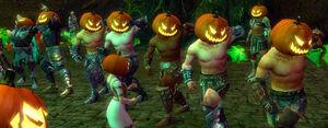 Pumpkin Crown Dancing Warriors