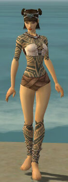 Monk Labyrinthine Armor F gray chest feet front