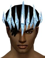 Ice Shard Crest gray front