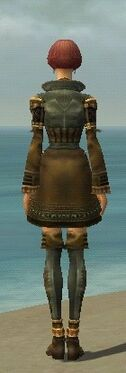 Mesmer Ancient Armor F gray chest feet back