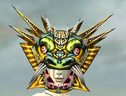 Sinister Dragon Mask gray front