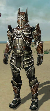 Warrior Kurzick Armor M dyed front