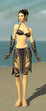 Ritualist Obsidian Armor F gray arms legs front