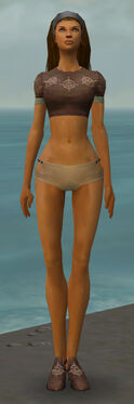 Dervish Sunspear Armor F gray chest feet front
