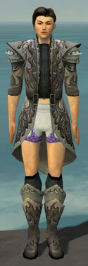 Elementalist Flameforged Armor M gray chest feet front