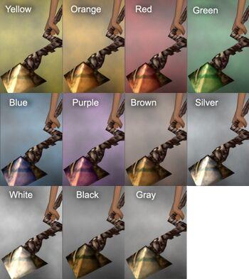 Spinal Staff Dye Chart