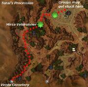 Battle of Turai's Procession map