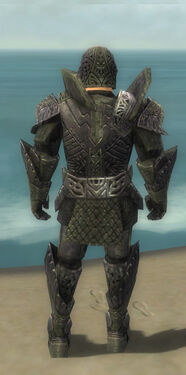 Warrior Elite Platemail Armor M gray back