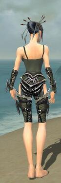 Necromancer Elite Profane Armor F gray arms legs back