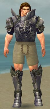 Warrior Platemail Armor M gray chest feet front