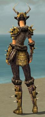 Warrior Elite Charr Hide Armor F dyed back