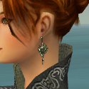 Elementalist Canthan Armor F gray earrings