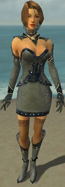 Mesmer Obsidian Armor F gray front