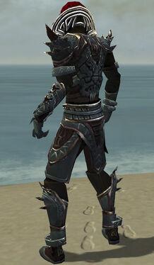 Necromancer Asuran Armor M gray back