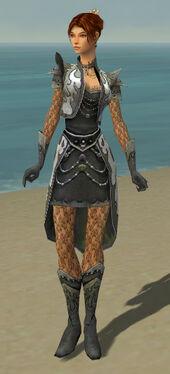 Elementalist Elite Flameforged Armor F gray front
