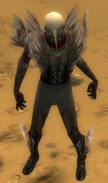 Necromancer Primeval Armor M gray chest feet front