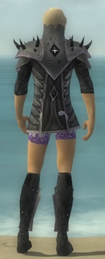 Elementalist Obsidian Armor M gray chest feet back