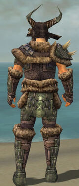 Warrior Charr Hide Armor M gray back