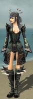 Necromancer Deldrimor Armor F gray front