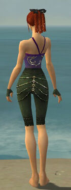 Mesmer Elite Luxon Armor F gray arms legs back