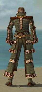Monk Elite Kurzick Armor M gray back