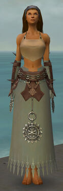 Dervish Sunspear Armor F gray arms legs front