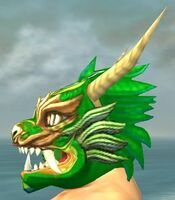 Imperial Dragon Mask dyed side