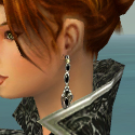Elementalist Elite Canthan Armor F gray earrings