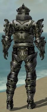Warrior Obsidian Armor M gray back