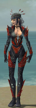 Necromancer Krytan Armor F dyed front
