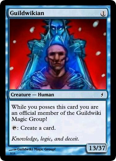 Blue Guildwikian Magic Card