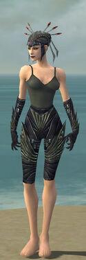 Necromancer Krytan Armor F gray arms legs front