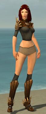 Ranger Elite Sunspear Armor F gray chest feet front