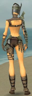 Warrior Elite Gladiator Armor F gray back