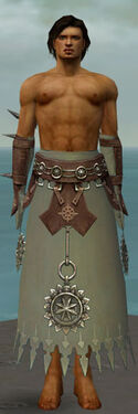 Dervish Sunspear Armor M gray arms legs front