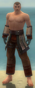 Monk Ancient Armor M gray arms legs front
