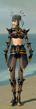 Necromancer Obsidian Armor F dyed front