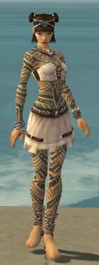 Monk Labyrinthine Armor F gray front