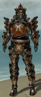 Warrior Obsidian Armor M dyed front