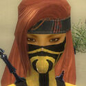 Assassin Obsidian Armor F dyed head front