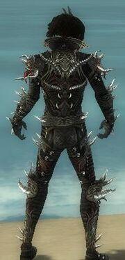 Necromancer Elite Canthan Armor M gray back