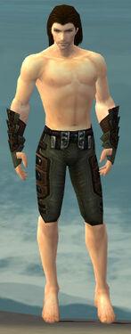 Ranger Obsidian Armor M gray arms legs front