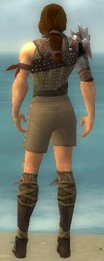 Ranger Studded Leather Armor M gray chest feet back