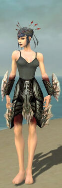 Necromancer Primeval Armor F gray arms legs front