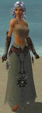 Dervish Elite Sunspear Armor F gray arms legs front