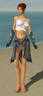 Elementalist Elite Stoneforged Armor F gray arms legs front